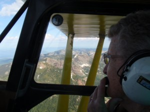 Mom's birthday flight over the Scotchman Peaks on her 84th birthday.