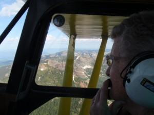Mom's birthday flight over the Scotchman Peaks on her 84th birthday.